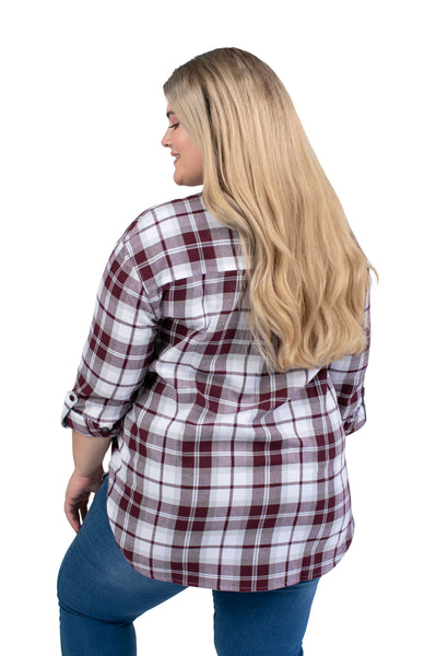 Plus Size Texas A&M Perfect Plaid Shirt