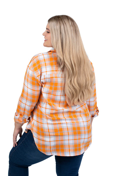 Plus Size Tennessee Vols Perfect Plaid Shirt