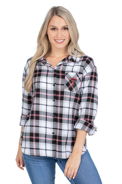 Texas Tech Black Perfect Plaid Shirt