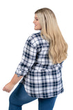 Plus Size UConn Huskies Perfect Plaid Shirt