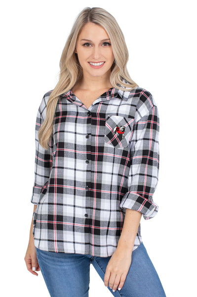 Georgia Bulldogs Black Perfect Plaid Shirt