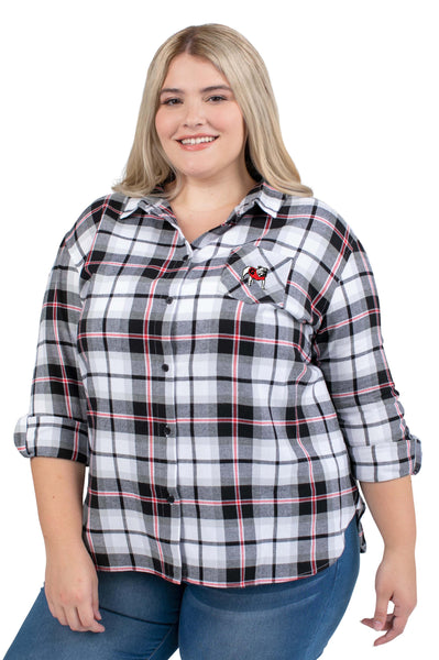 Plus Size Georgia Bulldogs Black Perfect Plaid Shirt