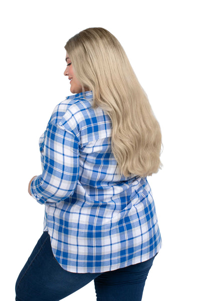 Plus Size Kentucky Wildcats Perfect Plaid Shirt