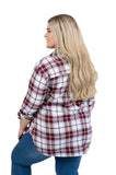 Plus Size Virginia Tech Perfect Plaid Shirt