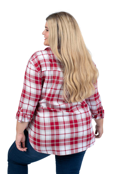 Plus Size Washington State Perfect Plaid Shirt