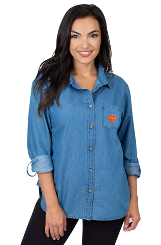 Clemson Tigers Perfect Denim Shirt