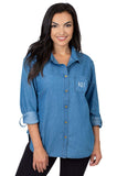 Kansas Jayhawks Perfect Denim Shirt