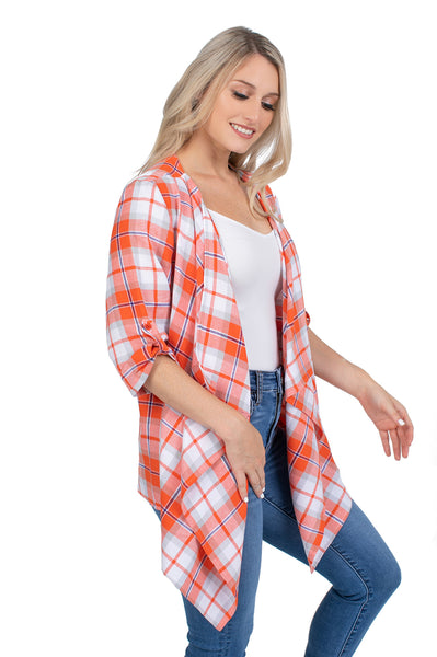 Clemson Tigers Plaid Cardigan