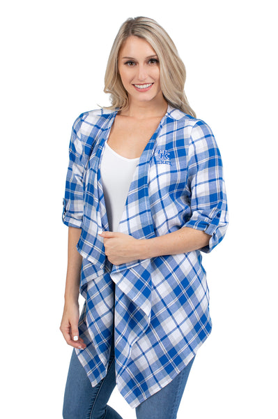 Kentucky Wildcats Plaid Cardigan