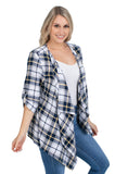 WVU Mountaineers Plaid Cardigan