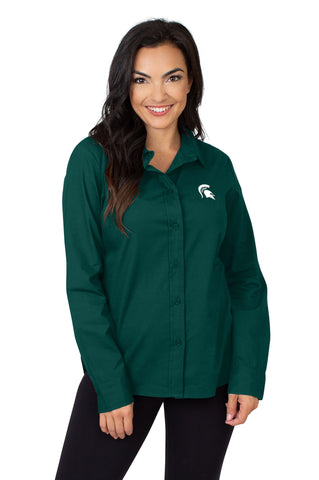 Michigan State Classic Poplin Shirt