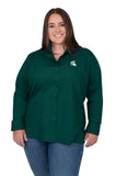 Plus Size Michigan State Classic Poplin Shirt