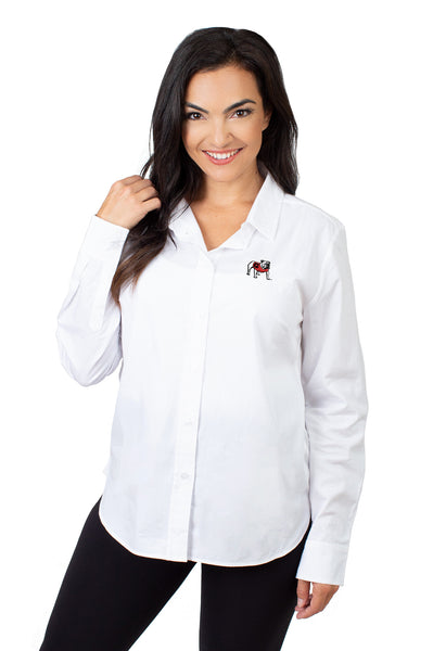 Georgia Bulldogs Classic White Poplin Shirt