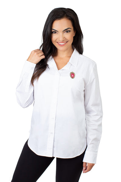 Wisconsin Badgers Classic White Poplin Shirt