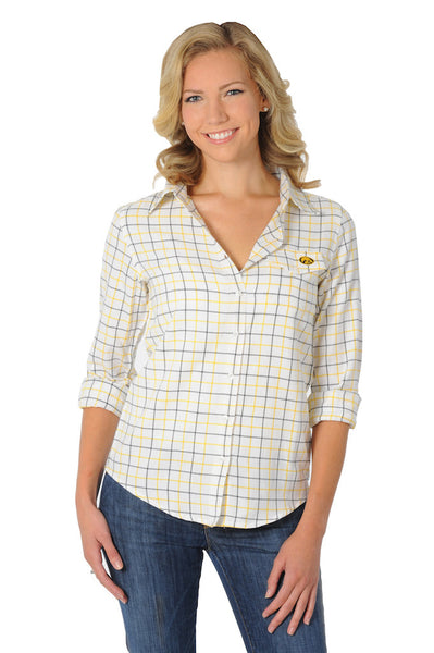 iowa hawkeyes womens plaid shirt