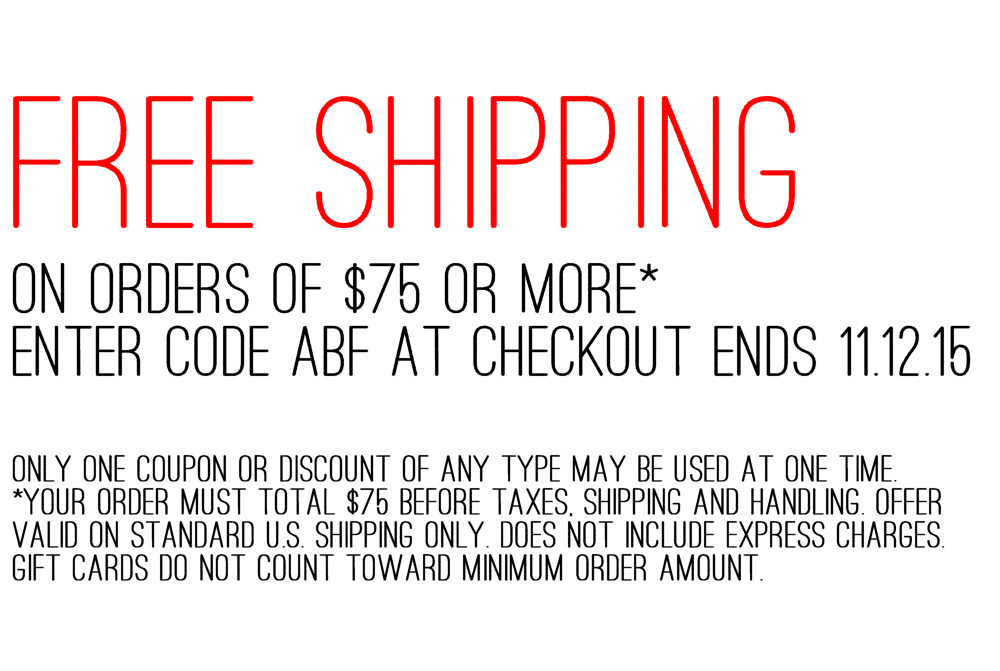 Here's a FREE SHIPPING coupon