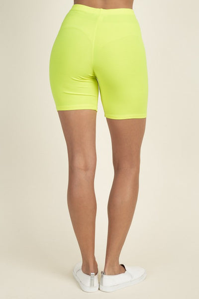Maddie Bike Shorts - Neon Yellow