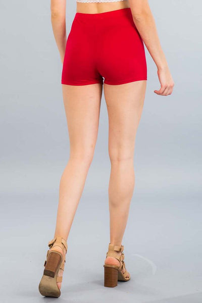 Essential Mini Shorts - Red - Amor Black Boutique