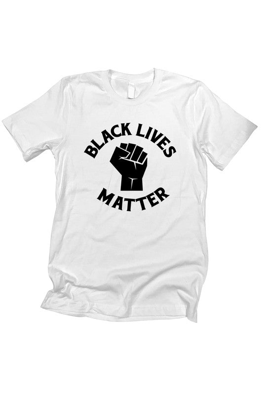 Black Lives Matter Graphic Tee - White