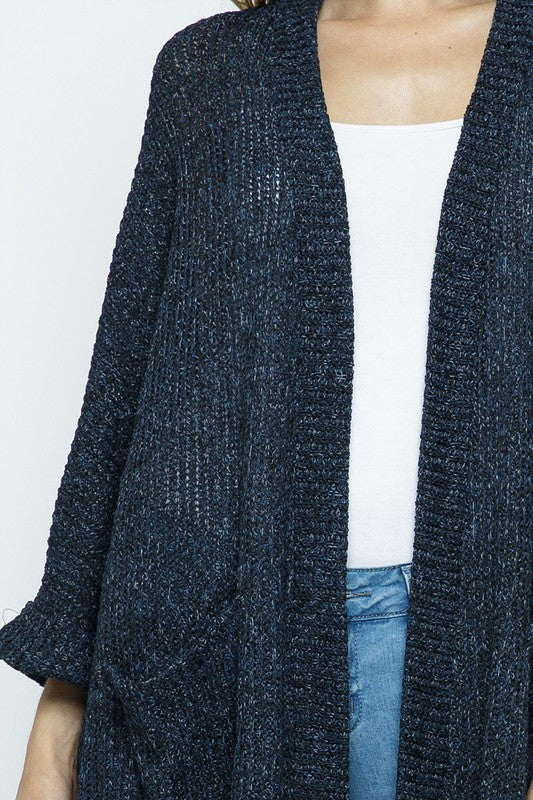Make You Promise Cardigan - Navy