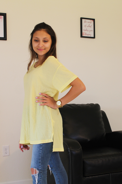Sam Knit Top - Yellow - Basic Top