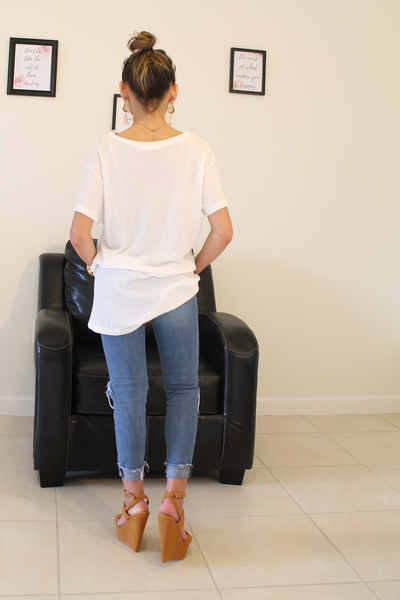 Sam Knit Top - White - Basic Top