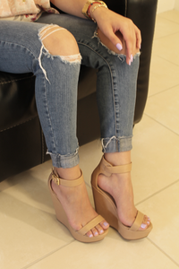 Vivi Wedge - Natural - Wedges