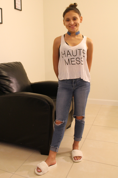 Haute Mess Tank Top - Tank Graphic Top