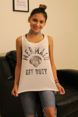 Mermaid Off Duty Top - Tank Graphic Top