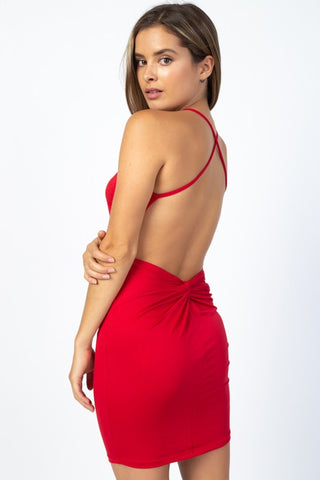 Come Inside Dress - Red