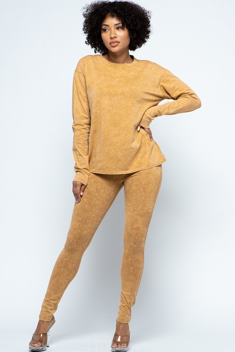 Forever Comfortable Set - Mustard