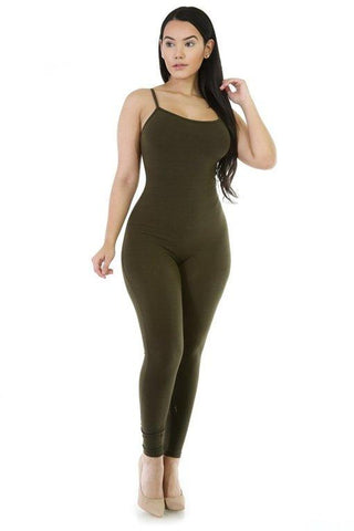 Looking For A Reaction Jumpsuit - S / Olive - Jumper