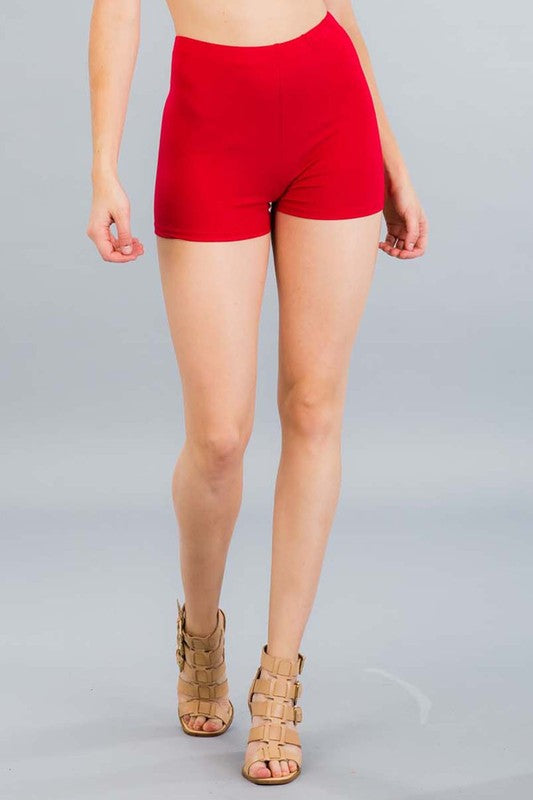 Essential Mini Shorts - Red