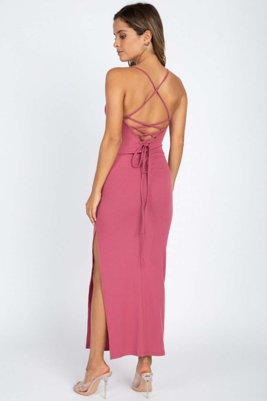 Soon As I Get Home Dress - Mauve
