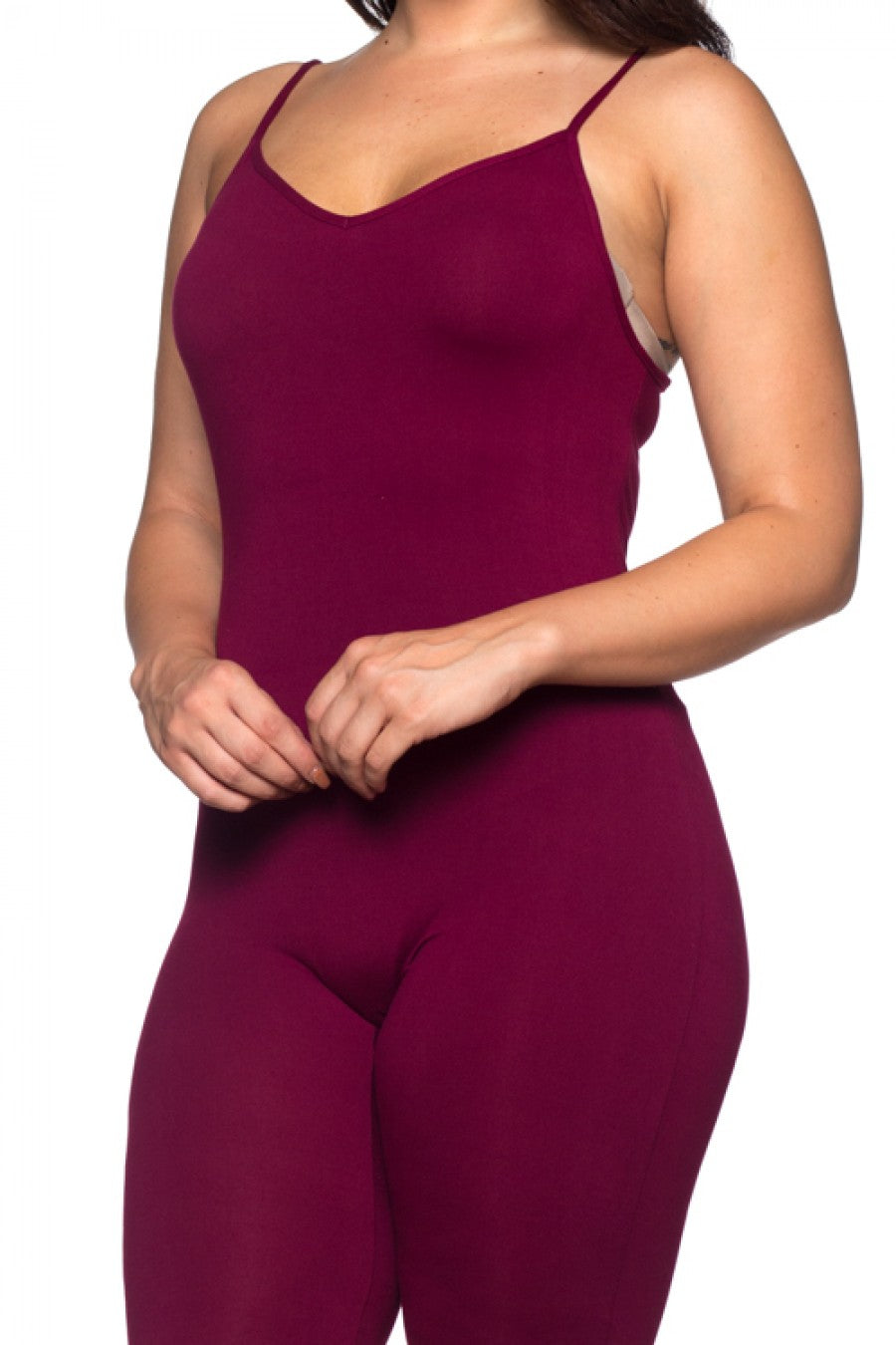 Monica Cami Jumpsuit - Burgundy