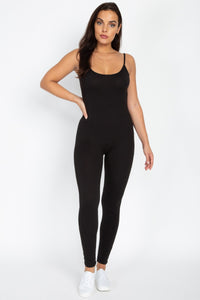 Monica Cami Jumpsuit - Black - Amor Black Boutique