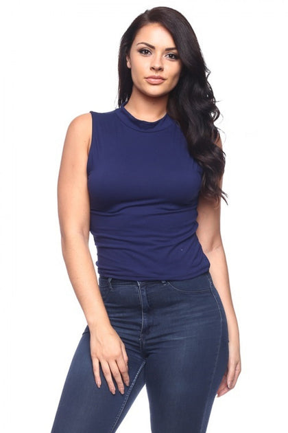 Izzy Tank Top - Navy - Amor Black Boutique