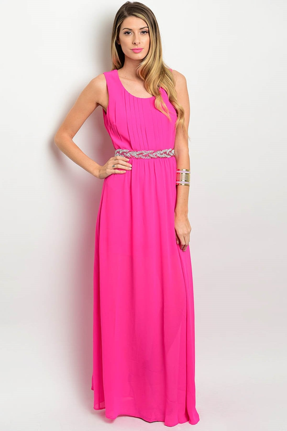 Load image into Gallery viewer, Issa Embellished Maxi Dress - Amor Black Boutique