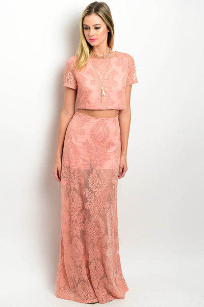 Jules 2Pc Lace Dress - Matching Set