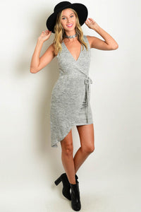 Nikki Sleeveless Dress - Gray