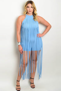 Mickayla Fringe Dress - Plus Romper