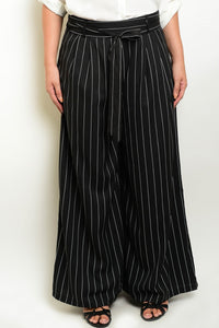 Roxanne Pinstriped Pants - Plus Bottoms