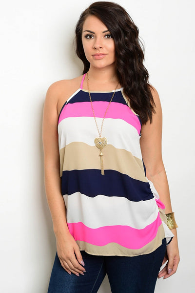 Lilly Color Block Top - Plus Top