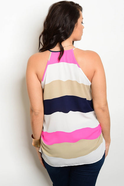 Lilly Color Block Top - Multi - Amor Black Boutique