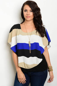 Gia Color Block Top - Plus Top