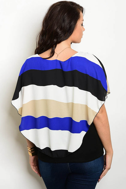Gia Color Block Top - Amor Black Boutique