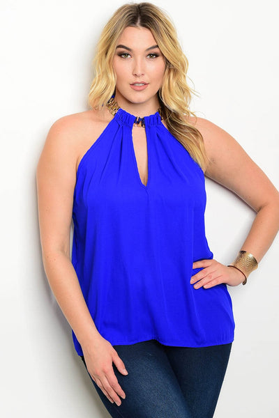 Diana Halter Blouse - Plus Top