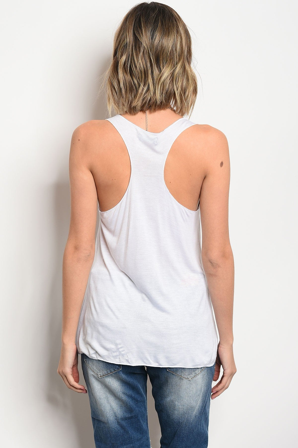 Load image into Gallery viewer, Baddie Graphic Tank - White - Amor Black Boutique