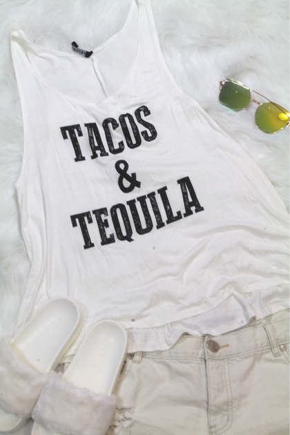 Tacos & Tequila Tee - Amor Black Boutique