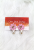 Bow & Flower Pearl Earring - Pink